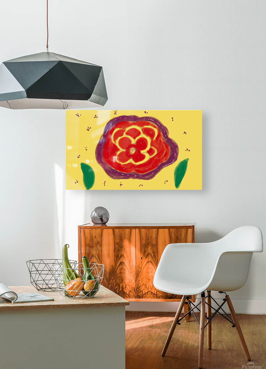 Fire garden  HD Metal print with Floating Frame on Back