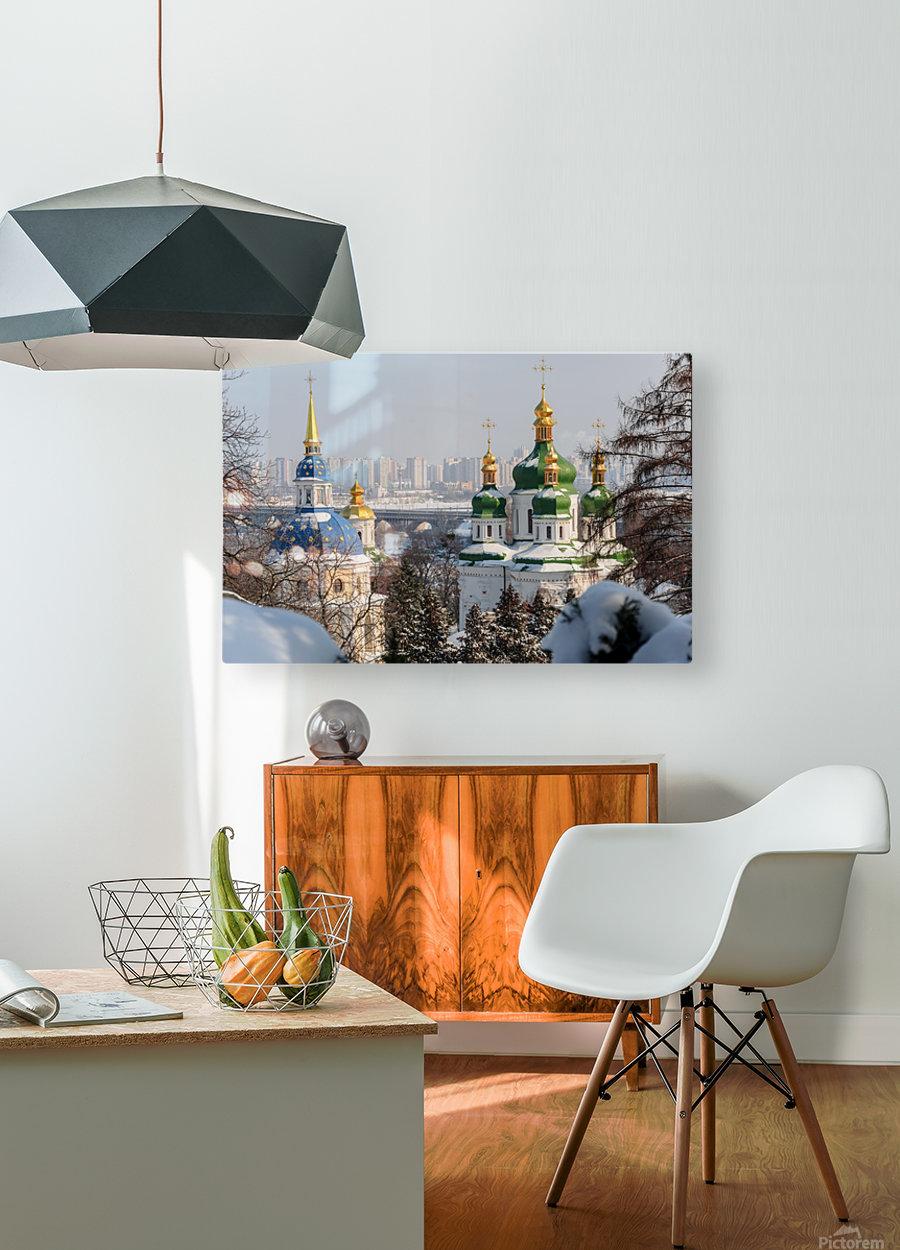 Vydubitskii Monastery in Kyiv  HD Metal print with Floating Frame on Back