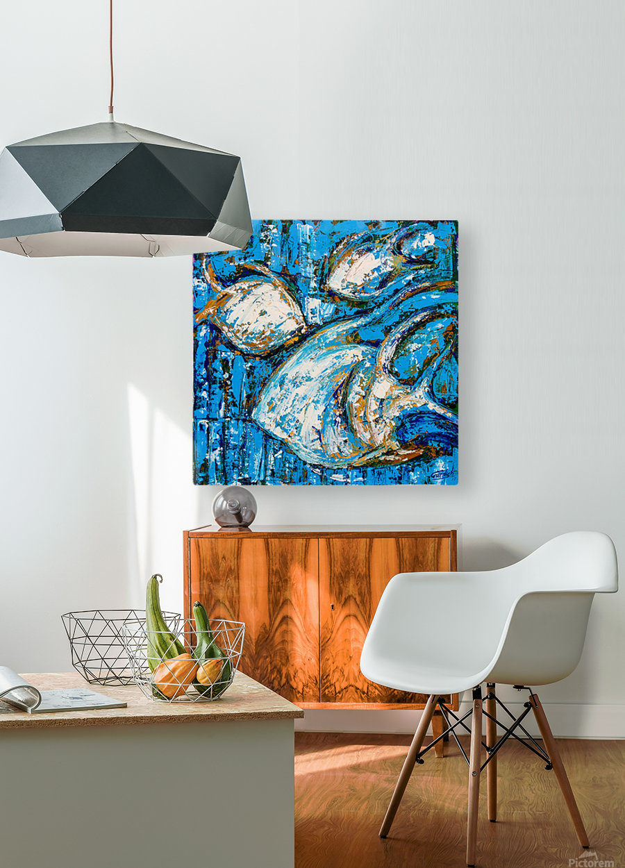 Flow Of Dreams-2 - 18 inch x 18   HD Metal print with Floating Frame on Back