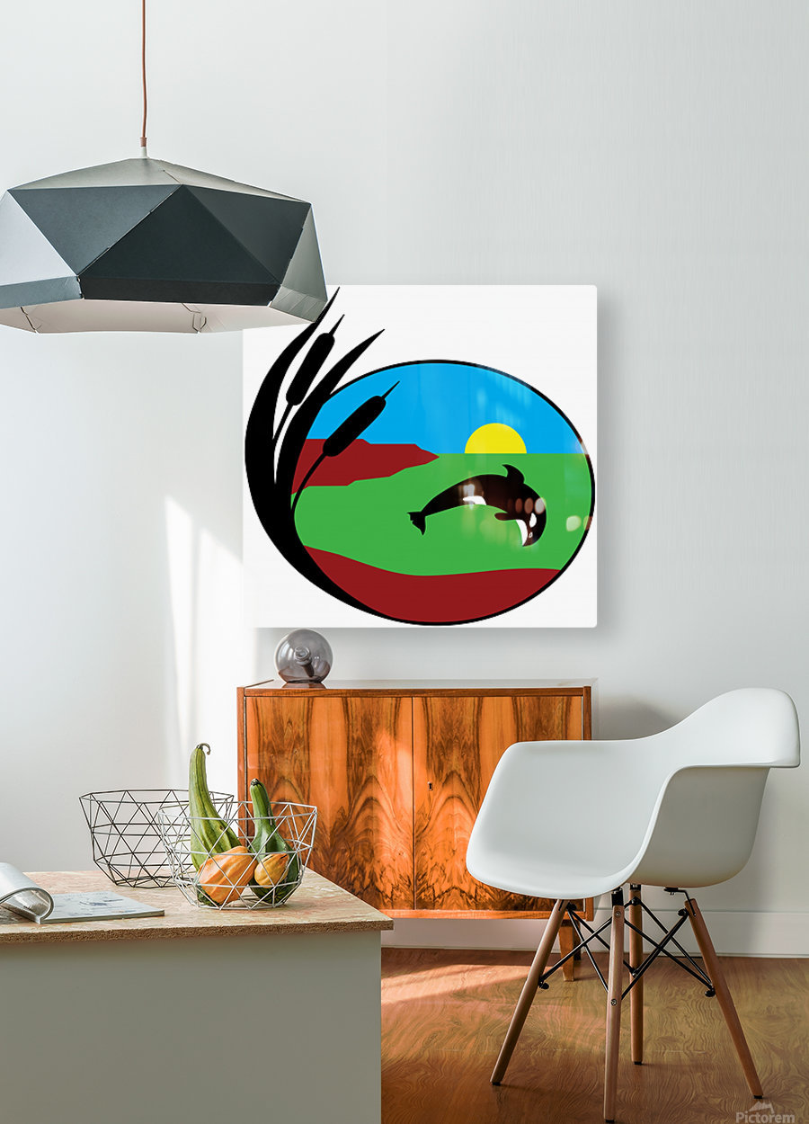 Whales Just Want To Have Fun  HD Metal print with Floating Frame on Back