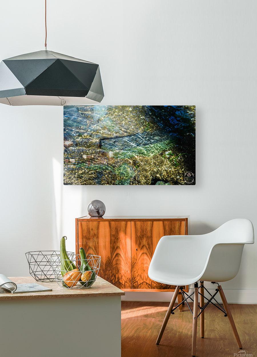 Lake Crystal  HD Metal print with Floating Frame on Back