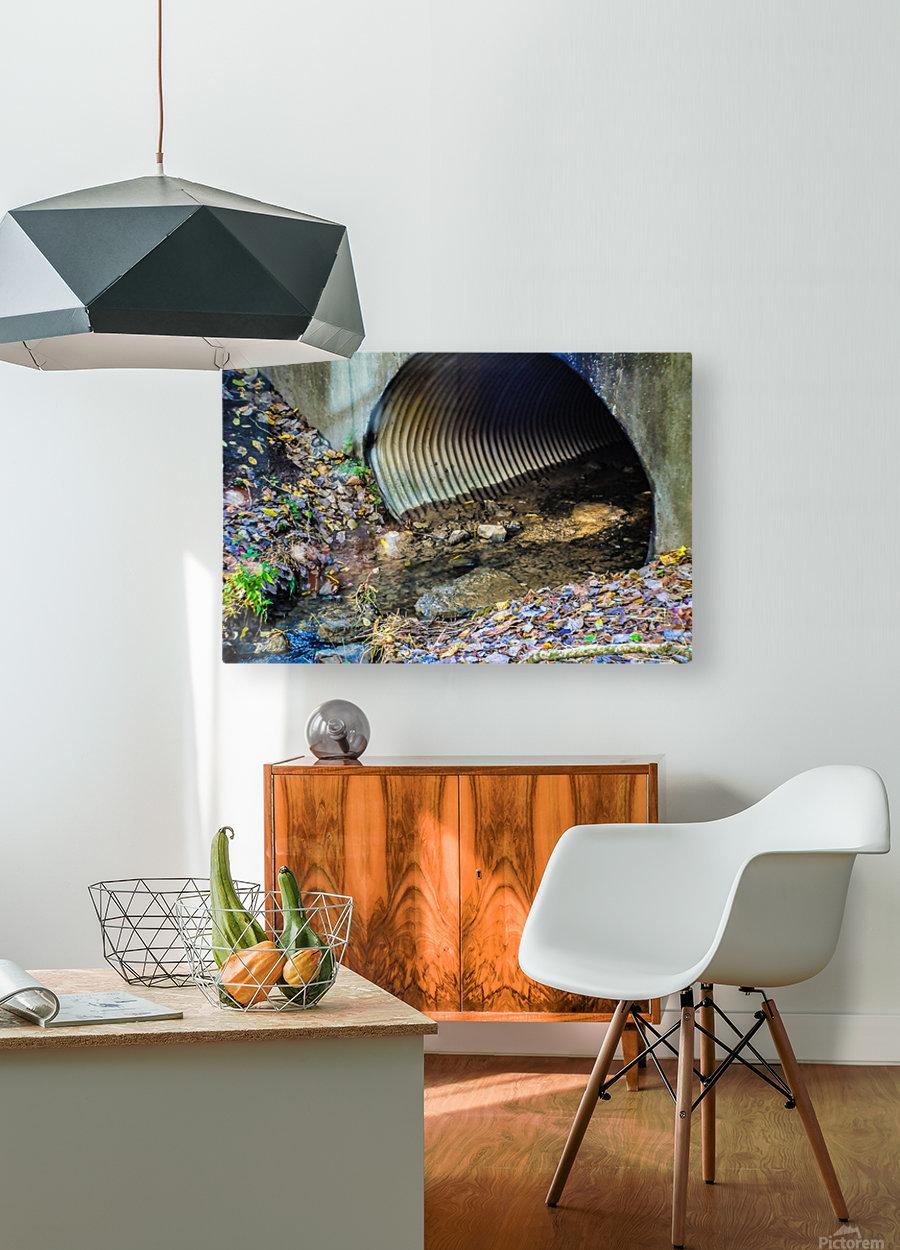 Secret Tunnel  HD Metal print with Floating Frame on Back