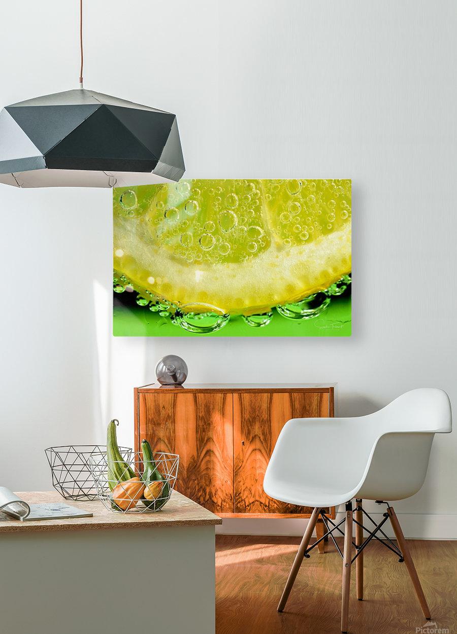 Un zeste de vie  HD Metal print with Floating Frame on Back