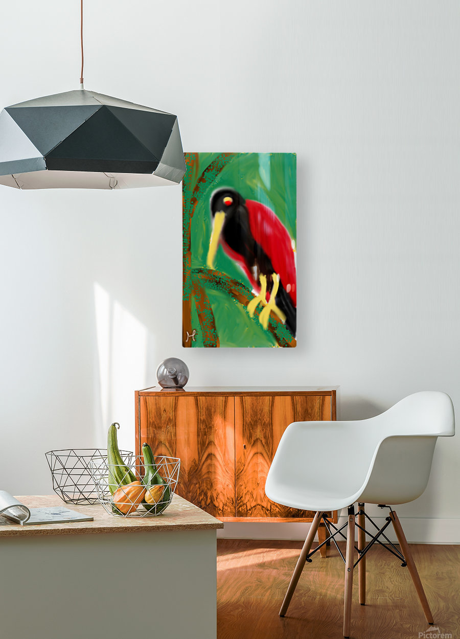 Woodpecker   HD Metal print with Floating Frame on Back