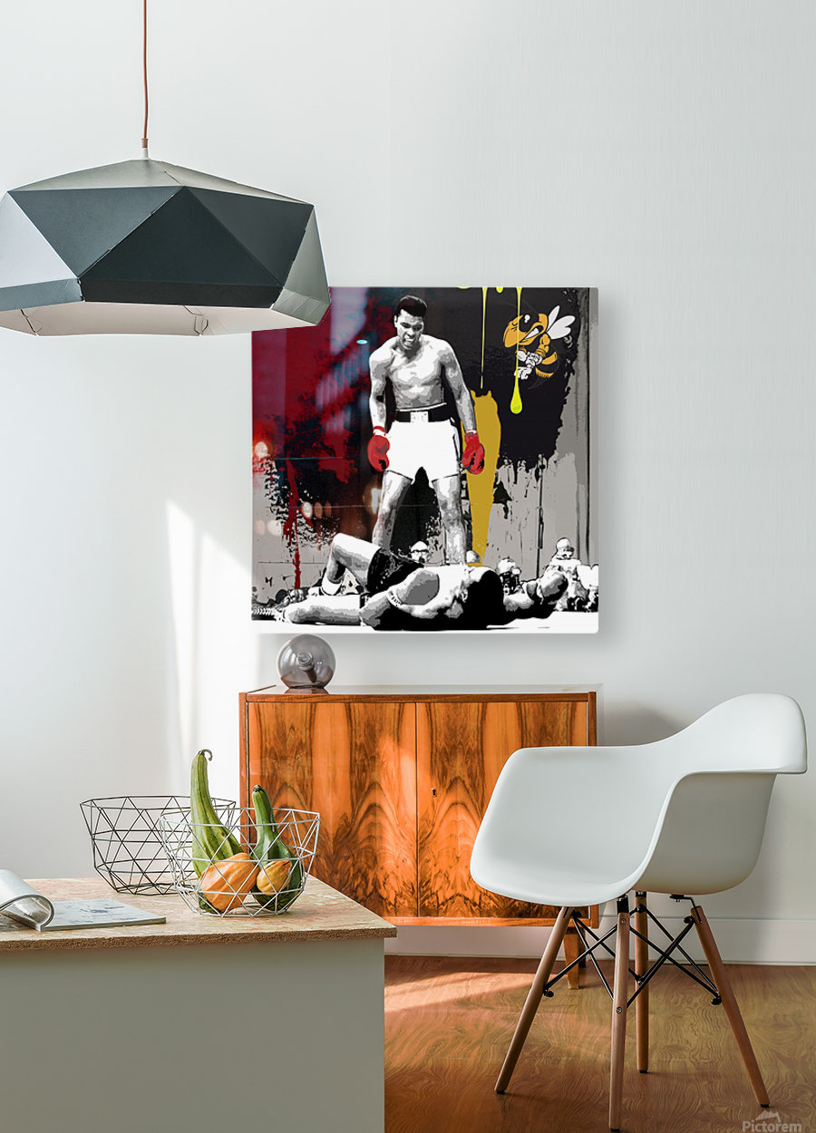 Ali  HD Metal print with Floating Frame on Back