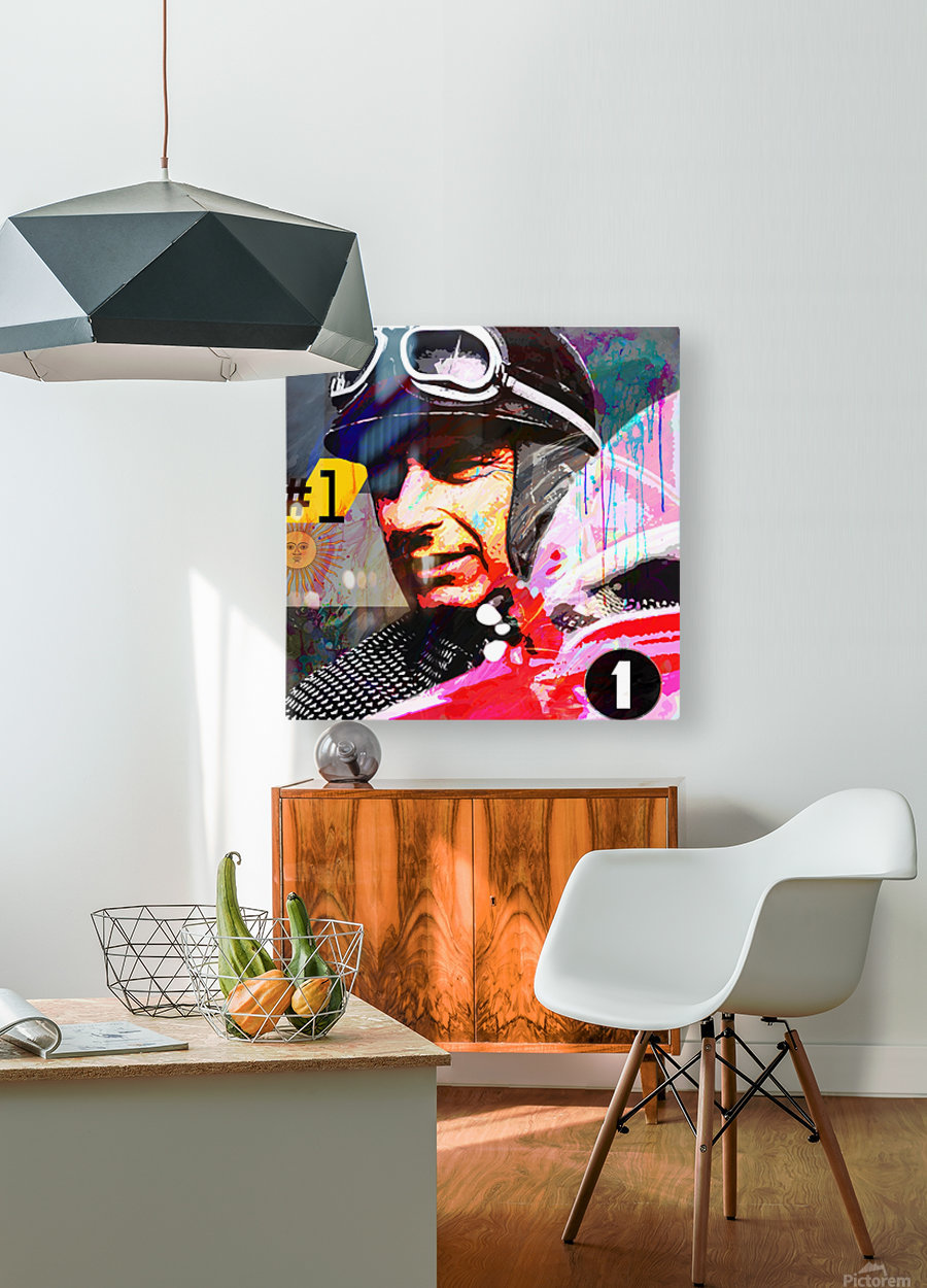 Fangio  HD Metal print with Floating Frame on Back