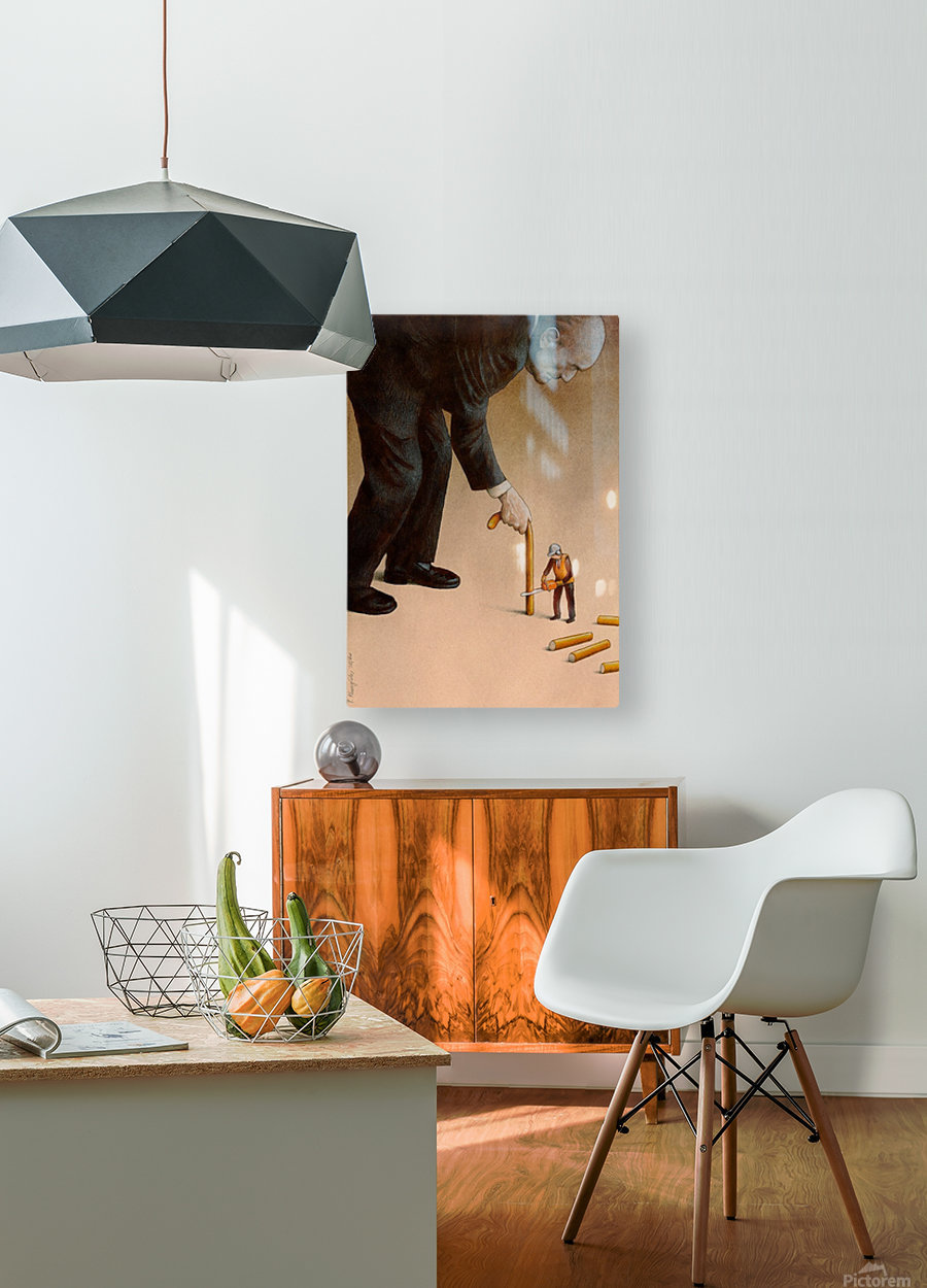 Cane  HD Metal print with Floating Frame on Back