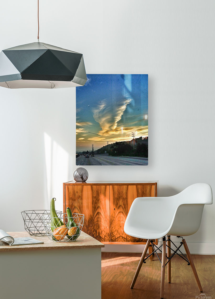 Cloud Whirlwind, California  HD Metal print with Floating Frame on Back