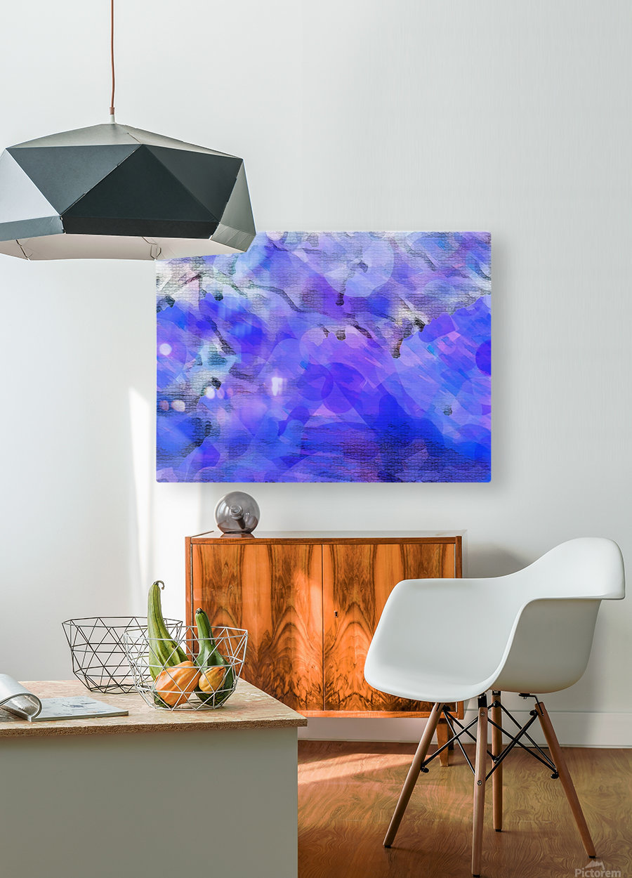 Textured Purple  HD Metal print with Floating Frame on Back