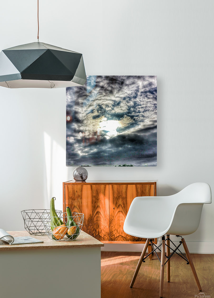 Sky City  HD Metal print with Floating Frame on Back