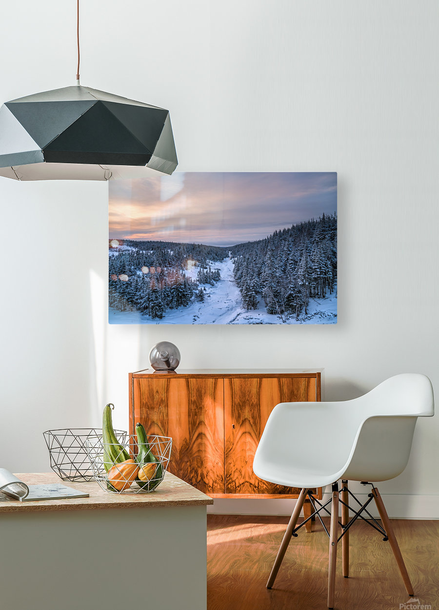 Dawn at Fishing Cove River  HD Metal print with Floating Frame on Back