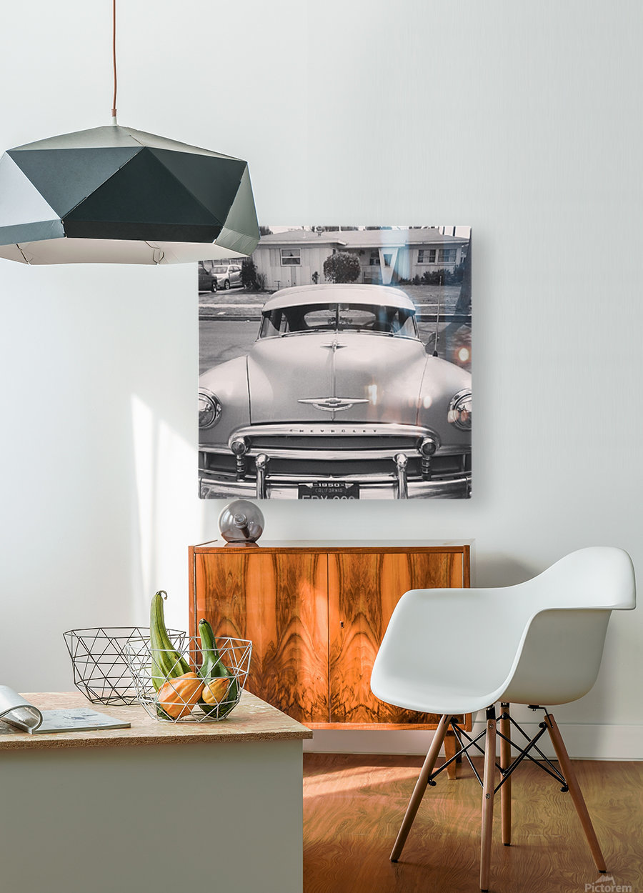 1950 Chevy   HD Metal print with Floating Frame on Back