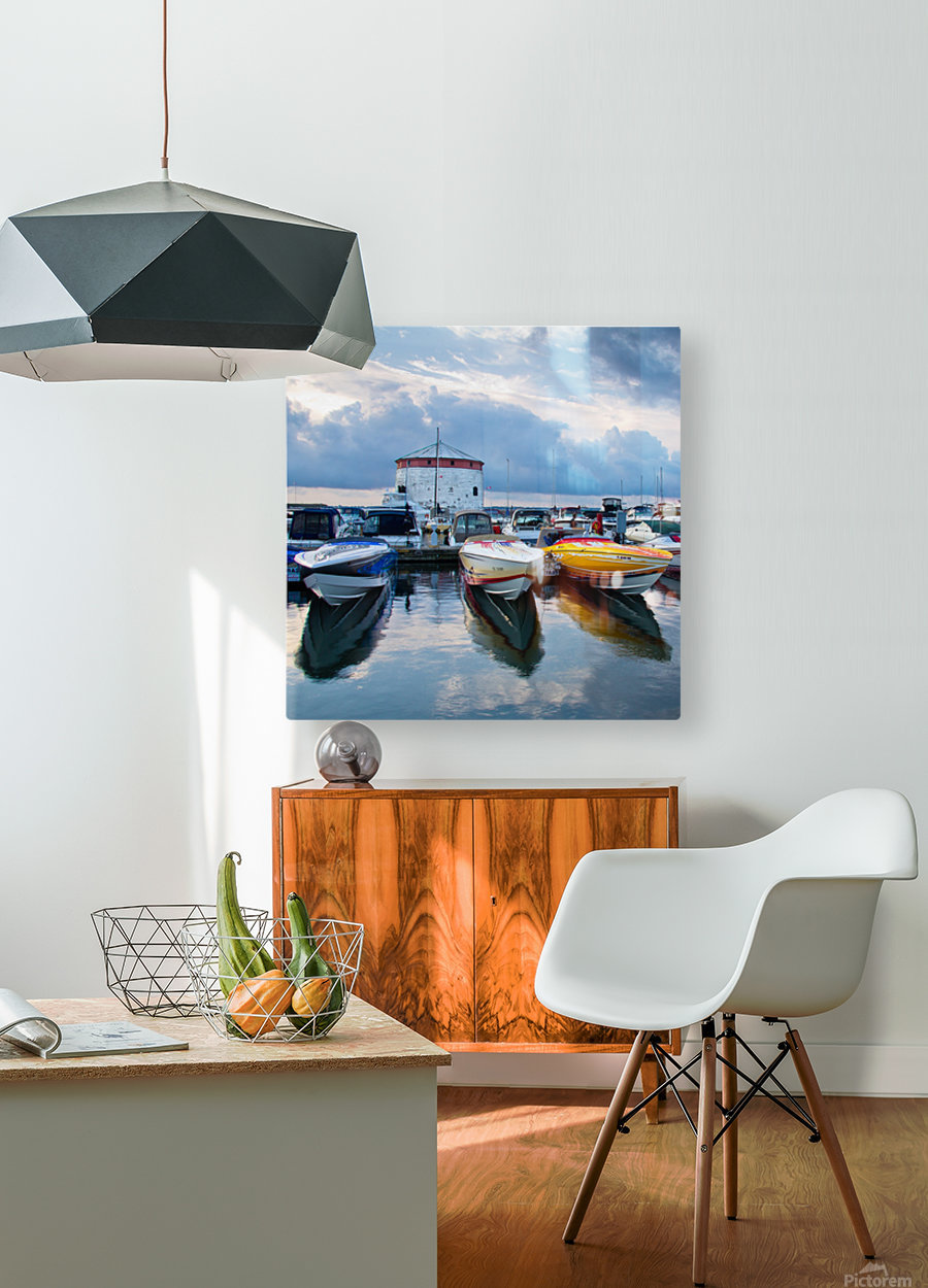Dawn at the Marina  HD Metal print with Floating Frame on Back