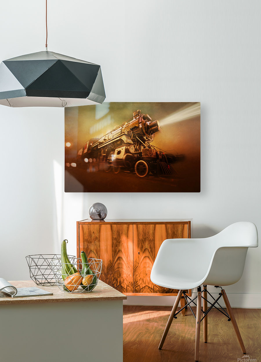 Engine 1095  HD Metal print with Floating Frame on Back