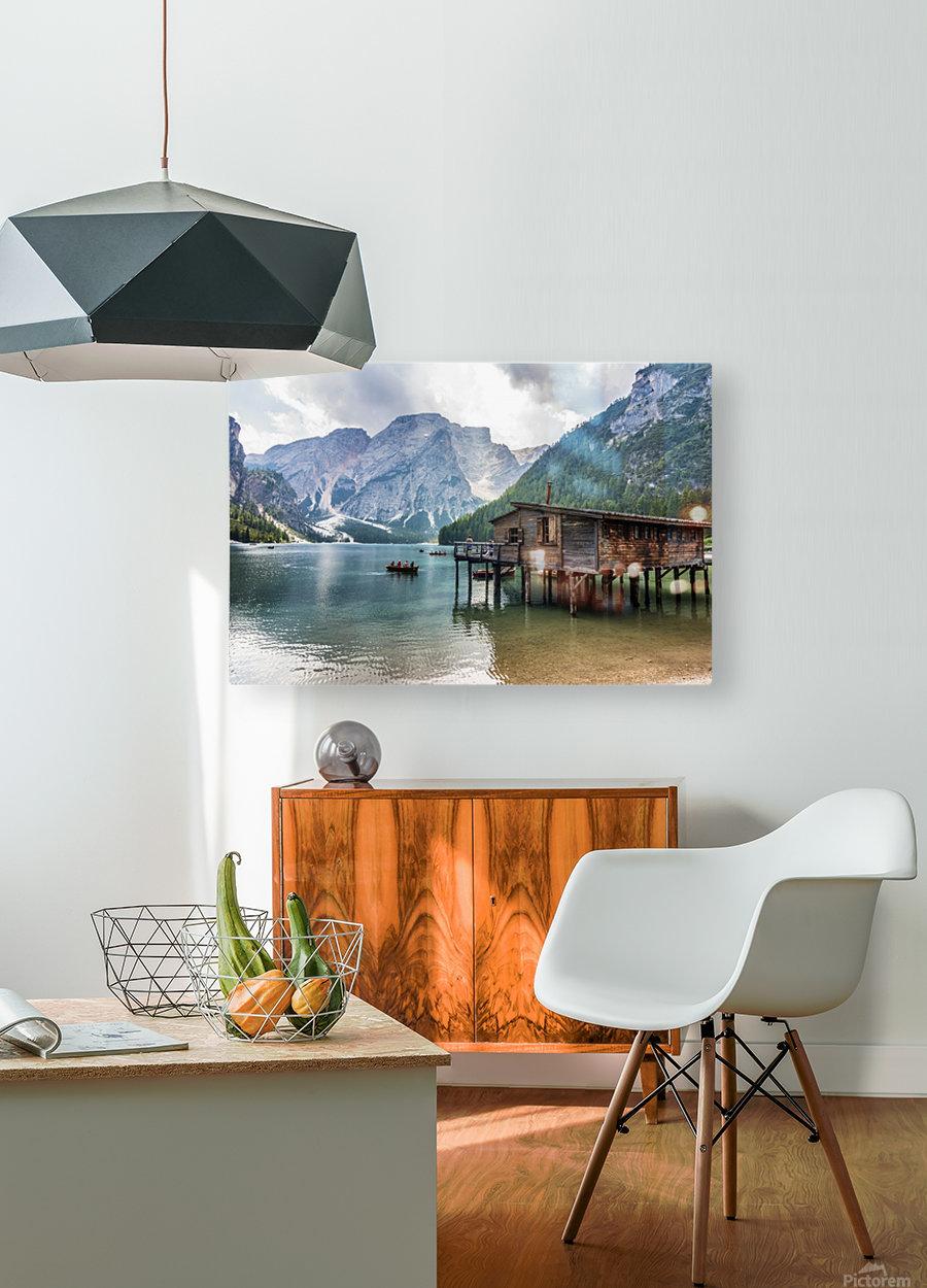 Lake of Braies  HD Metal print with Floating Frame on Back