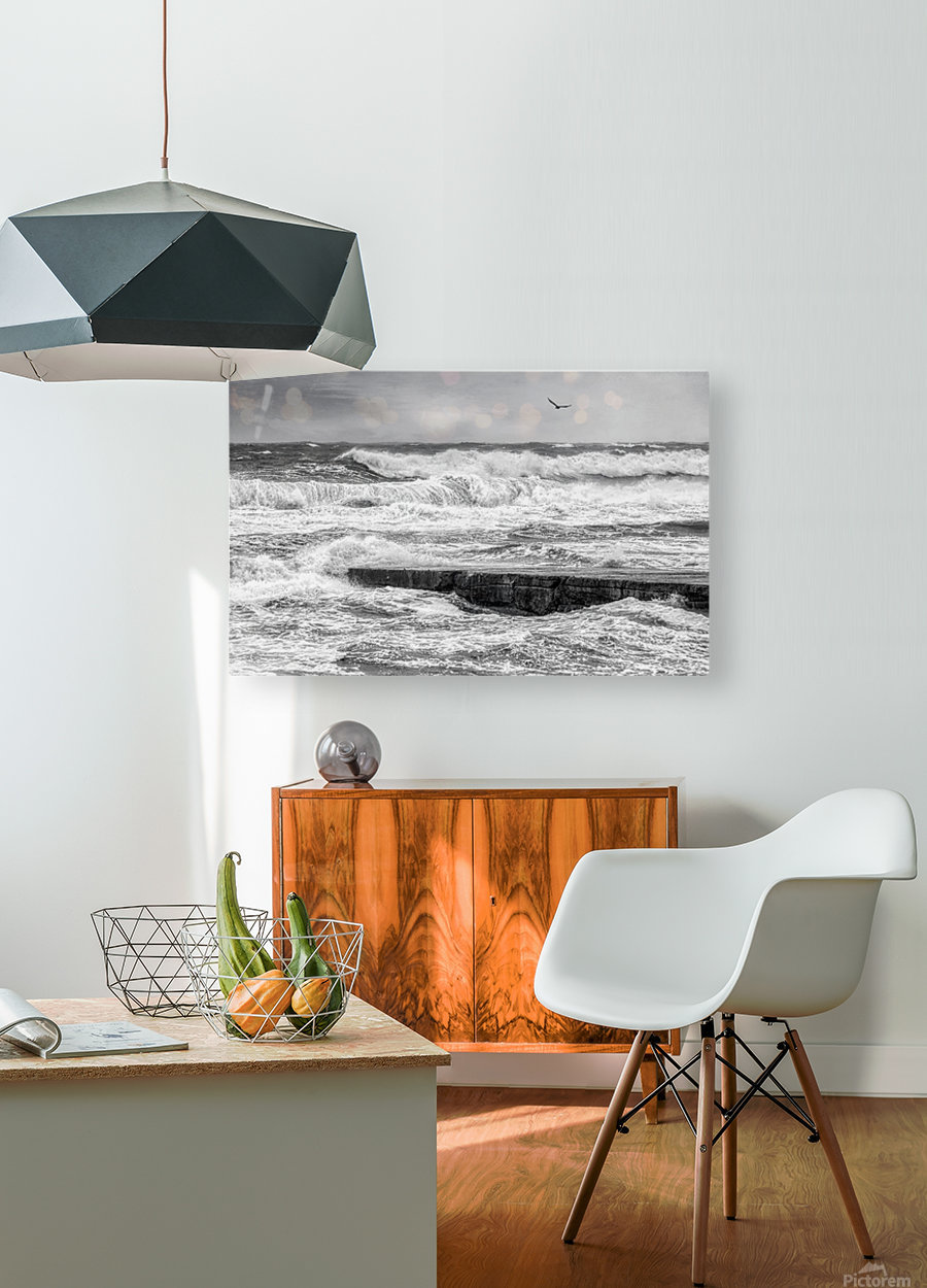 Stormy Seas  HD Metal print with Floating Frame on Back
