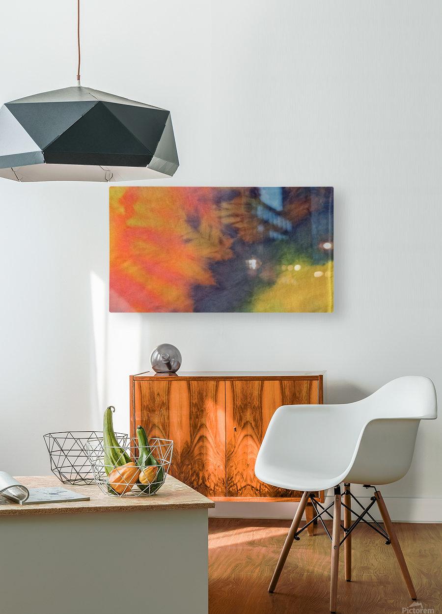SPLASH DOT  HD Metal print with Floating Frame on Back