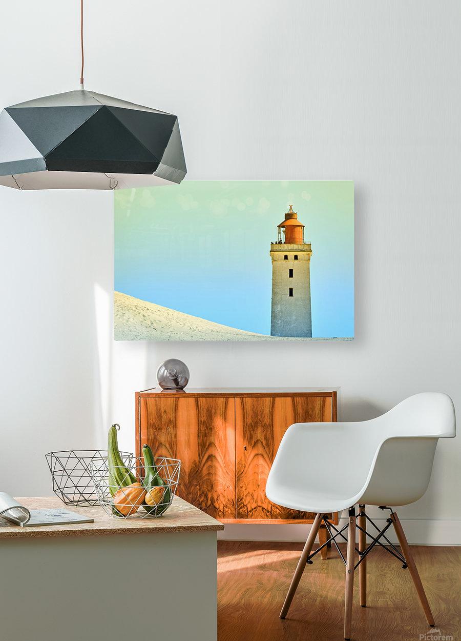 Lighthouse Rubjerg Knude  HD Metal print with Floating Frame on Back