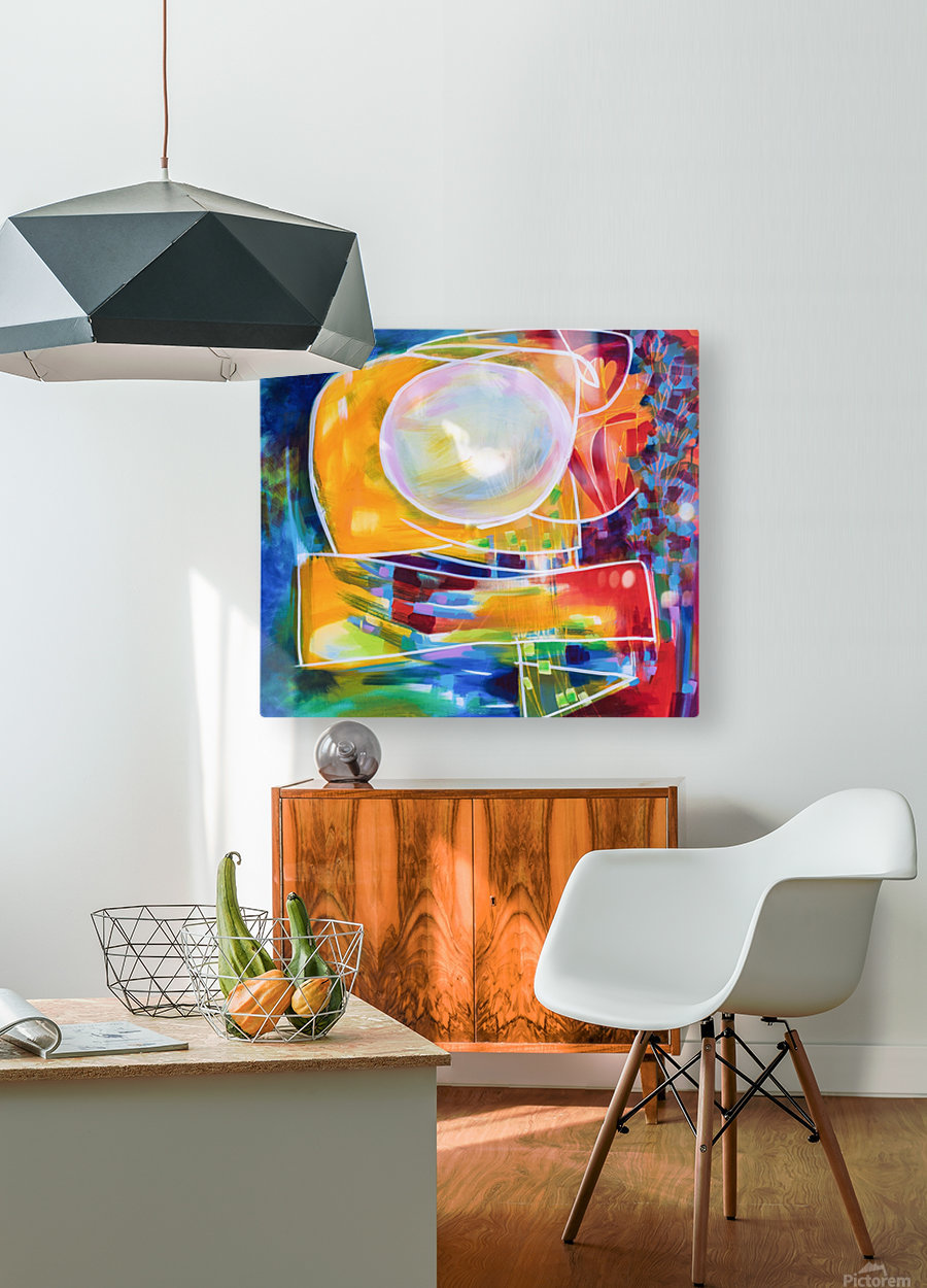Moon Swoosh  HD Metal print with Floating Frame on Back