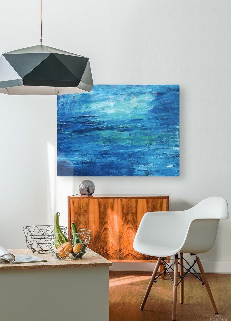 Ocean  HD Metal print with Floating Frame on Back