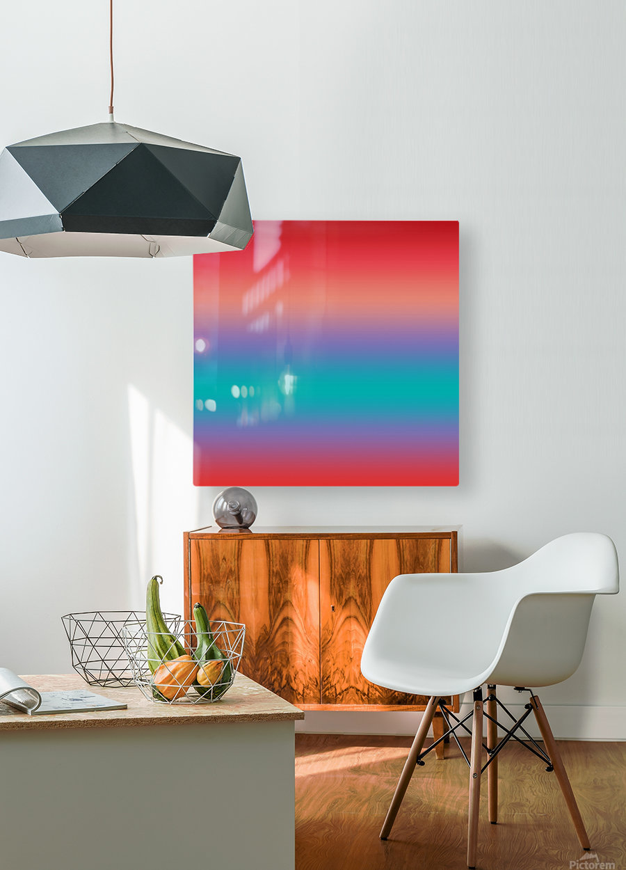 summer Ombre  HD Metal print with Floating Frame on Back