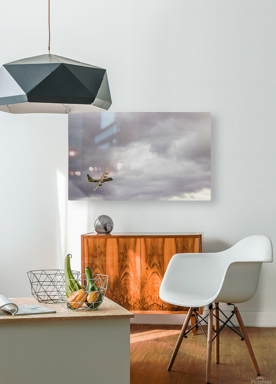 Flyingwarbird  HD Metal print with Floating Frame on Back
