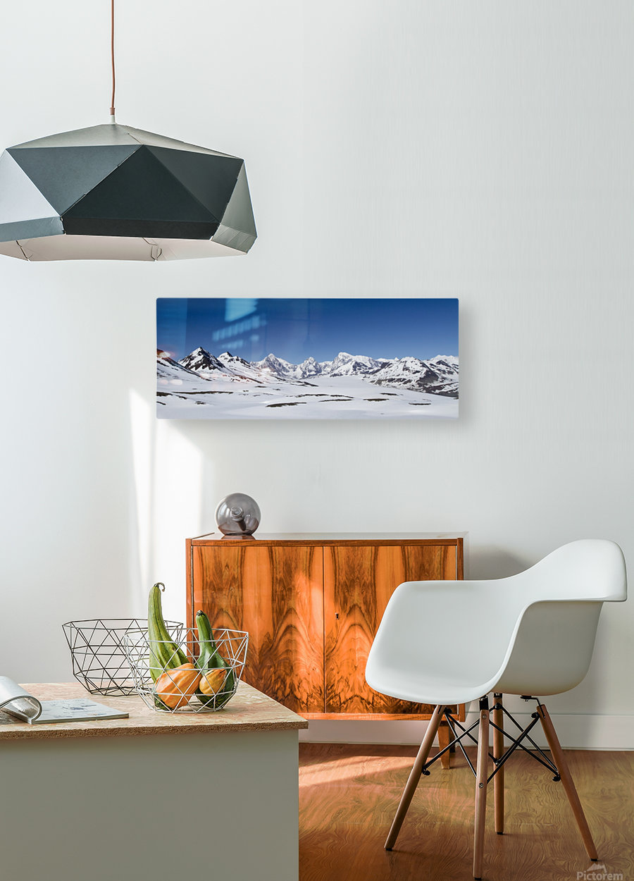 Mountain Range in South Georgia  HD Metal print with Floating Frame on Back