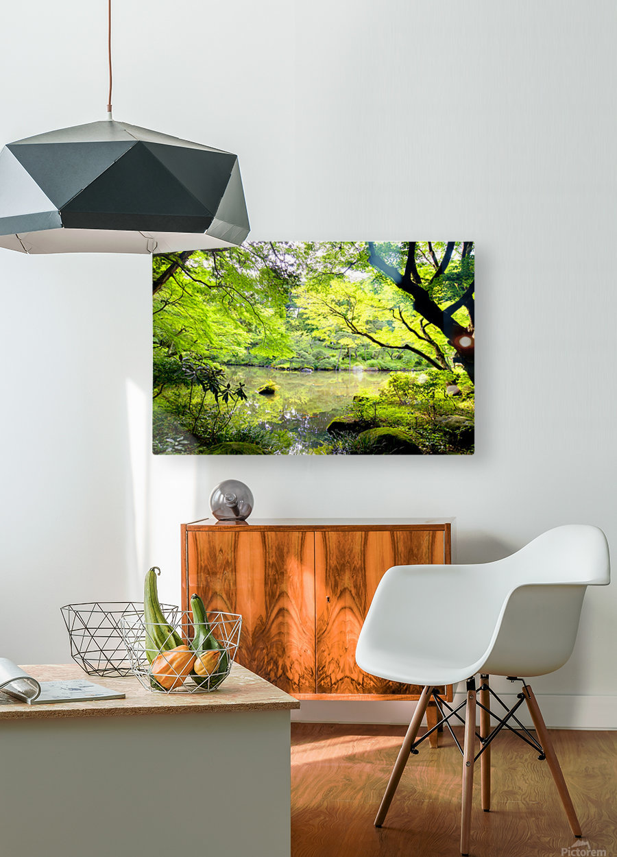 Tokyo Garden  HD Metal print with Floating Frame on Back