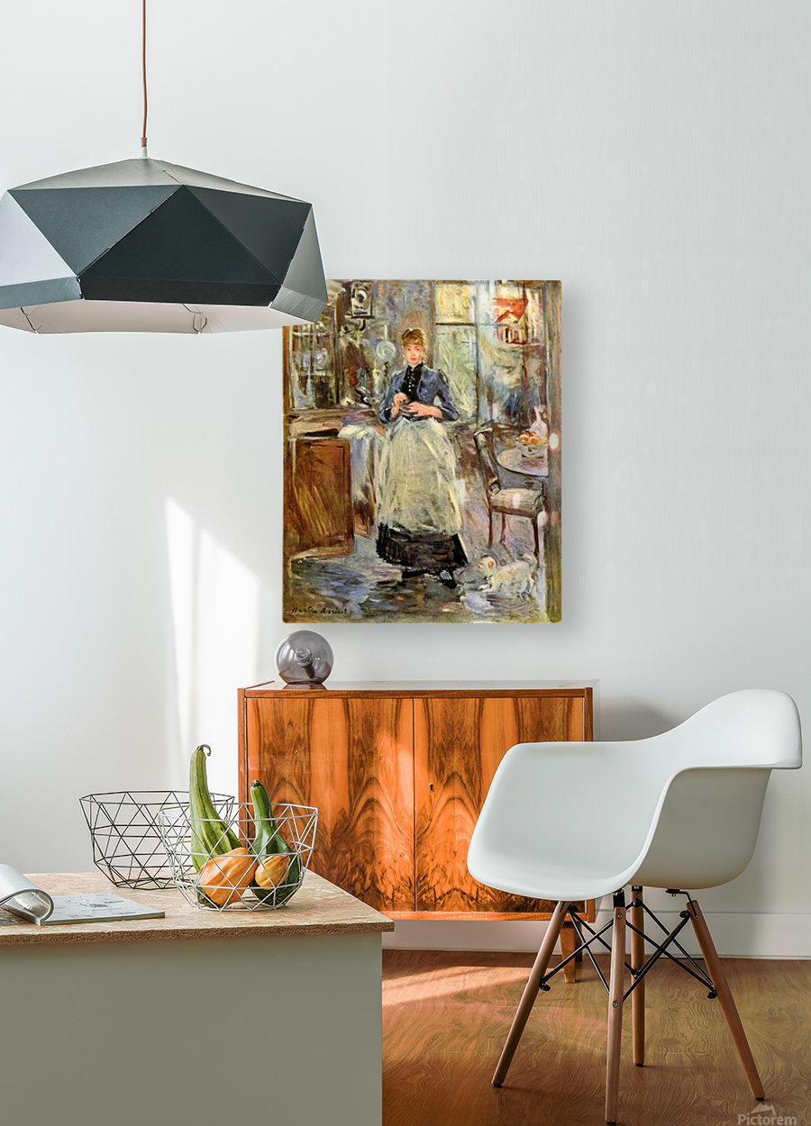 In the Dining Room  HD Metal print with Floating Frame on Back