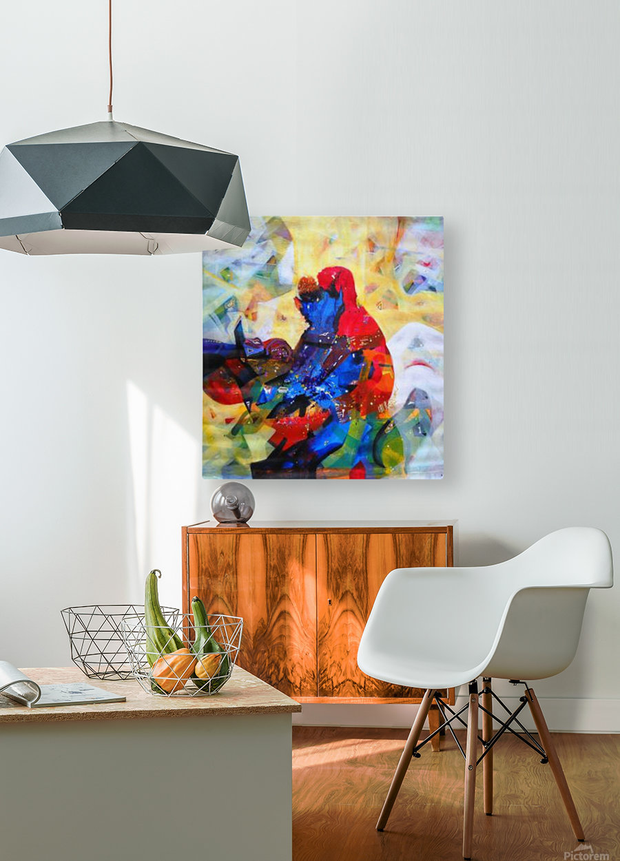 love 2  HD Metal print with Floating Frame on Back