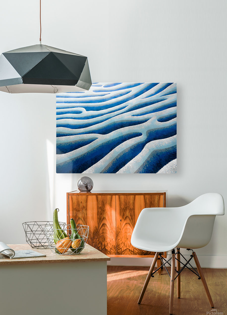 The Ice Field - La Banquise  HD Metal print with Floating Frame on Back