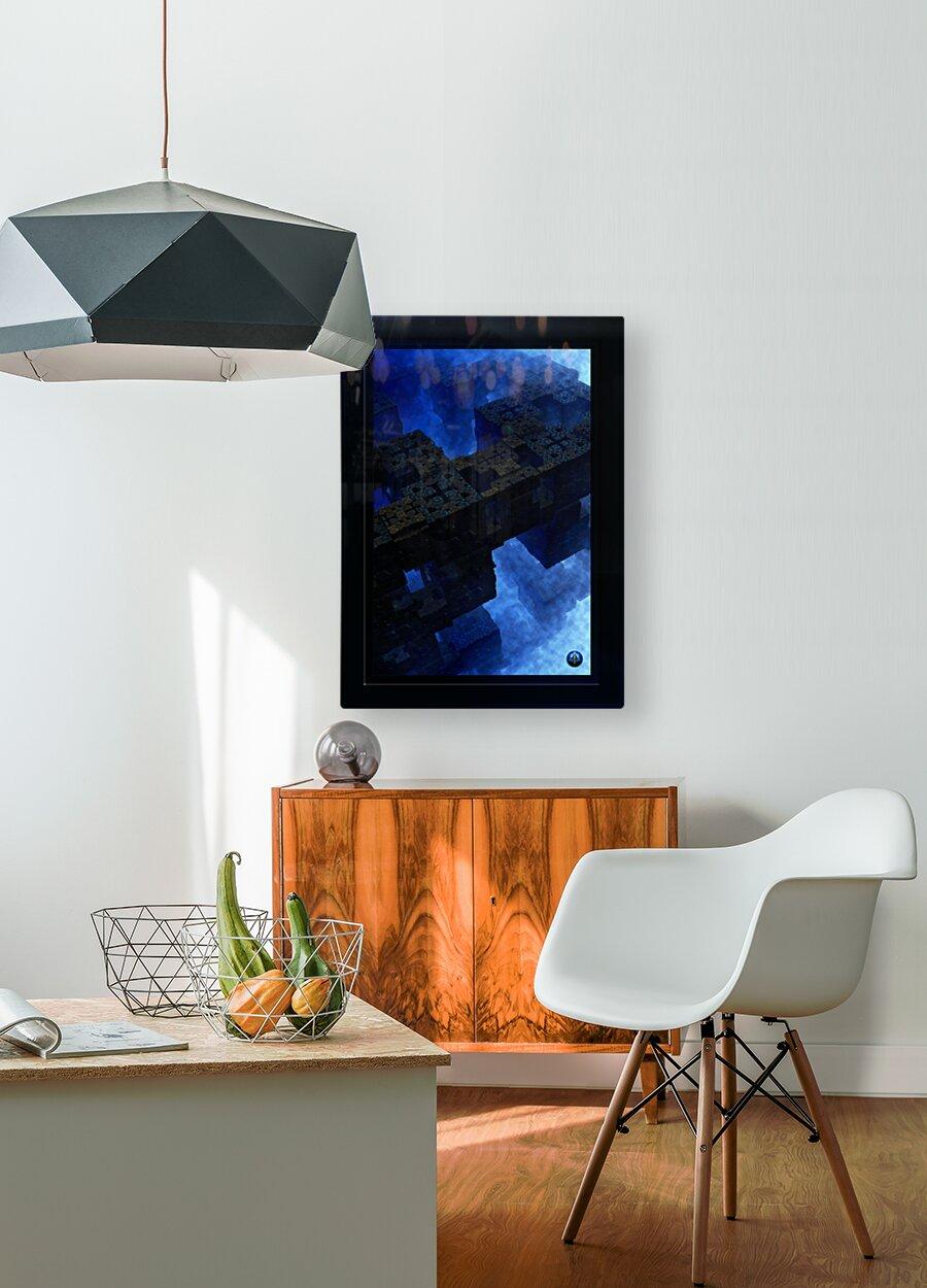 Stones Of Time Fractal Art  HD Metal print with Floating Frame on Back