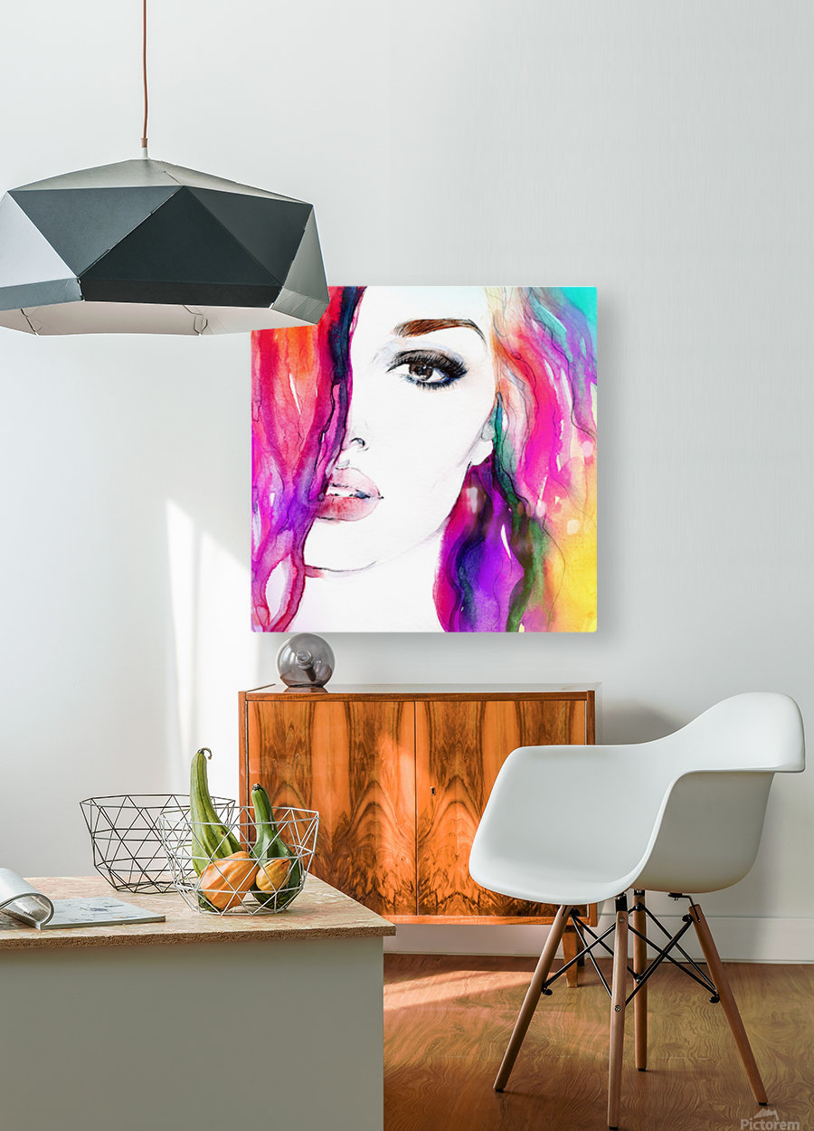 Abstract Woman  HD Metal print with Floating Frame on Back