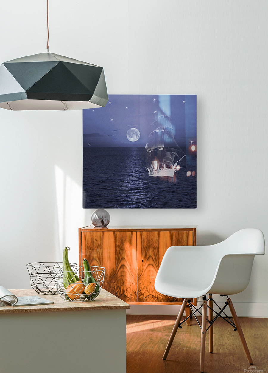 Ghost Ship  HD Metal print with Floating Frame on Back