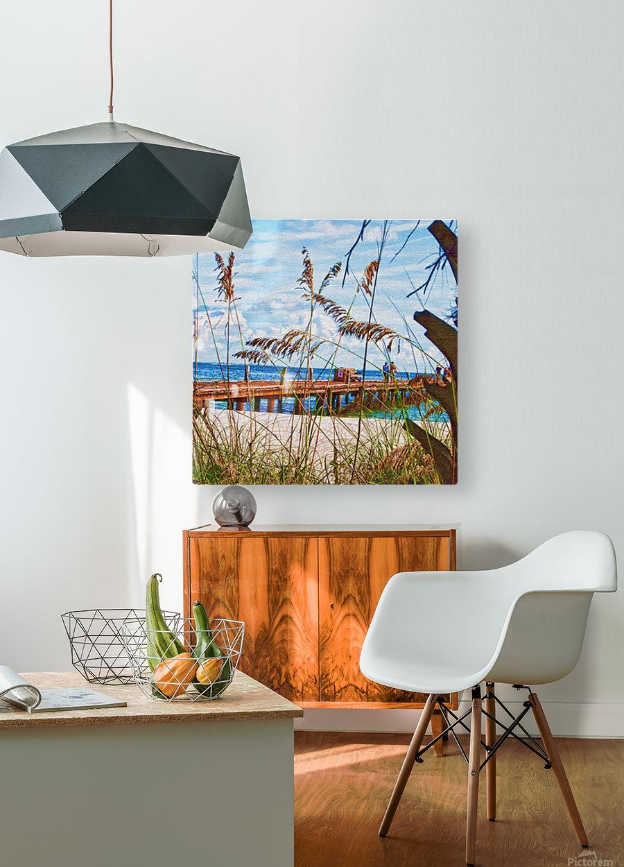 Beach Walk  HD Metal print with Floating Frame on Back
