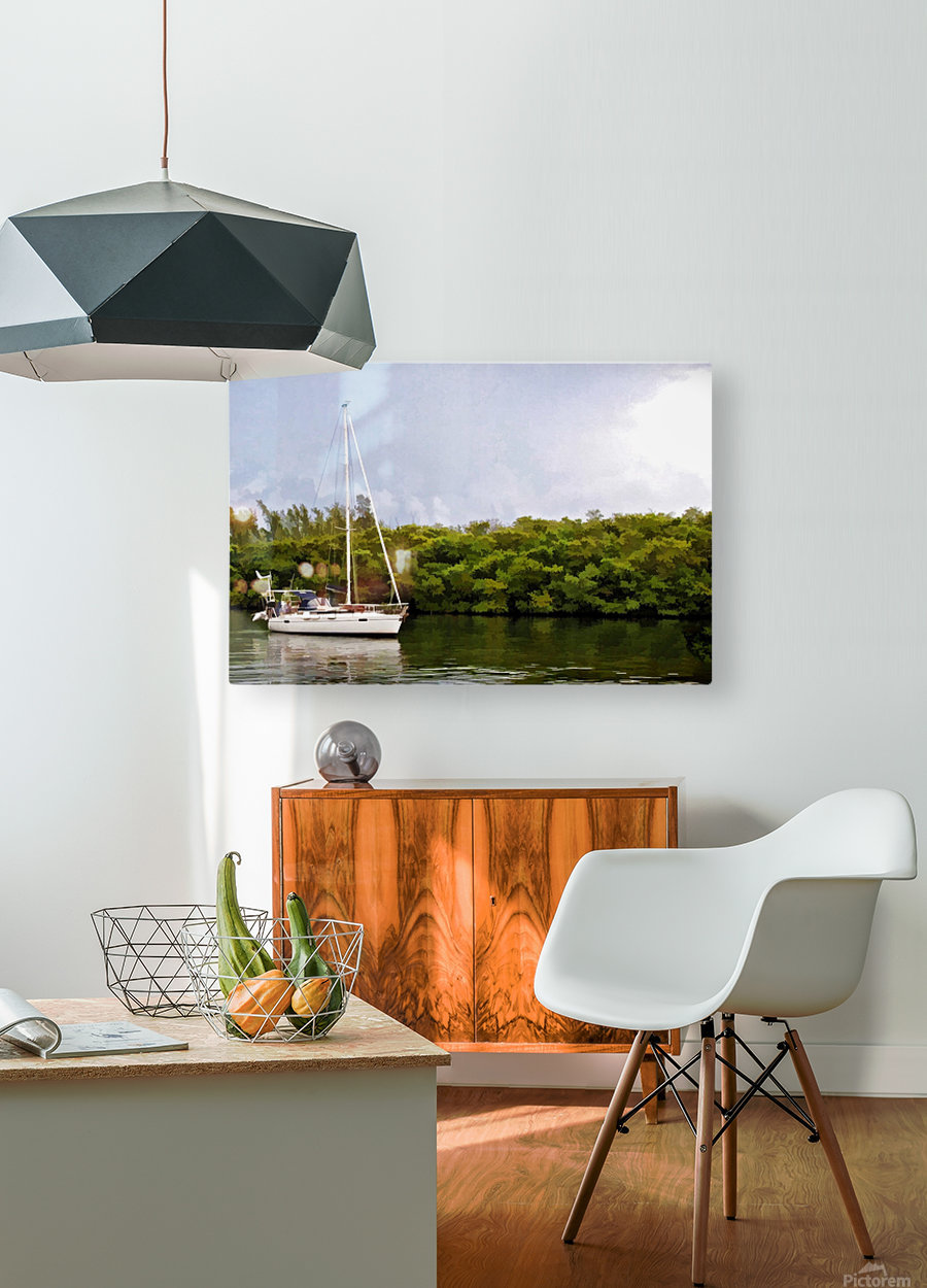On Quiet Waters  HD Metal print with Floating Frame on Back
