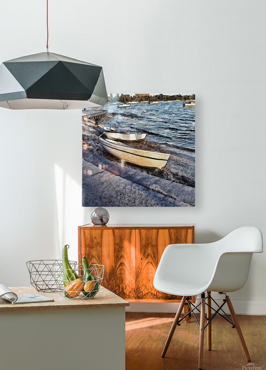 Boats At The Bay  HD Metal print with Floating Frame on Back