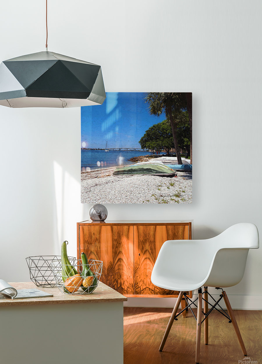 Rest Stop  HD Metal print with Floating Frame on Back