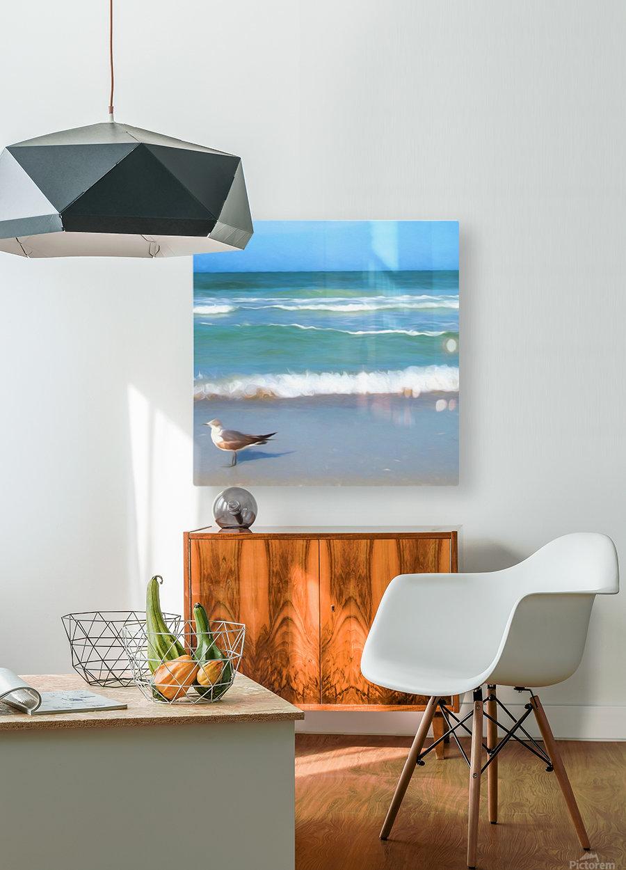 Surfs Up  HD Metal print with Floating Frame on Back