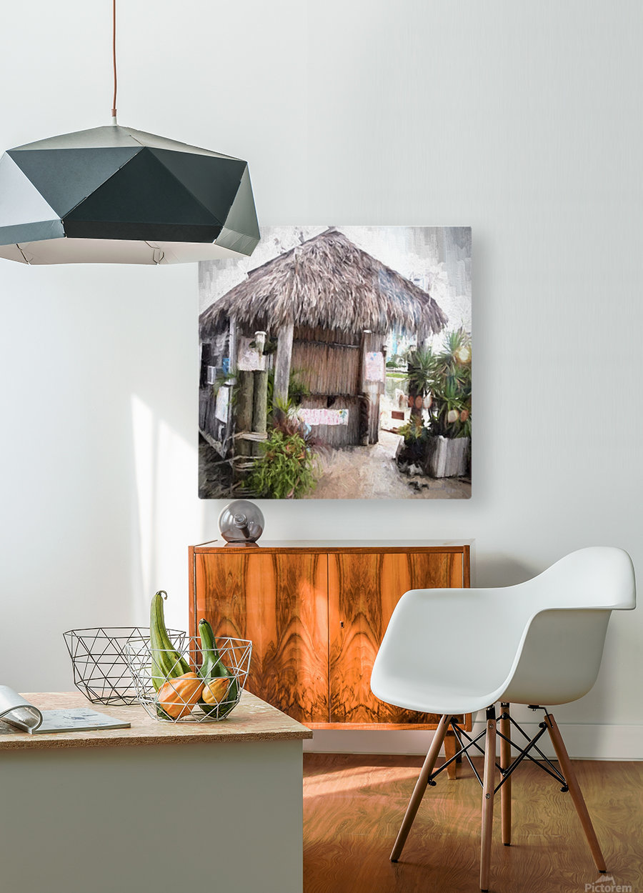 Hut  HD Metal print with Floating Frame on Back