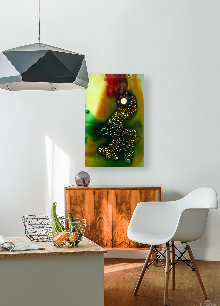 GREEN MONSTER  HD Metal print with Floating Frame on Back