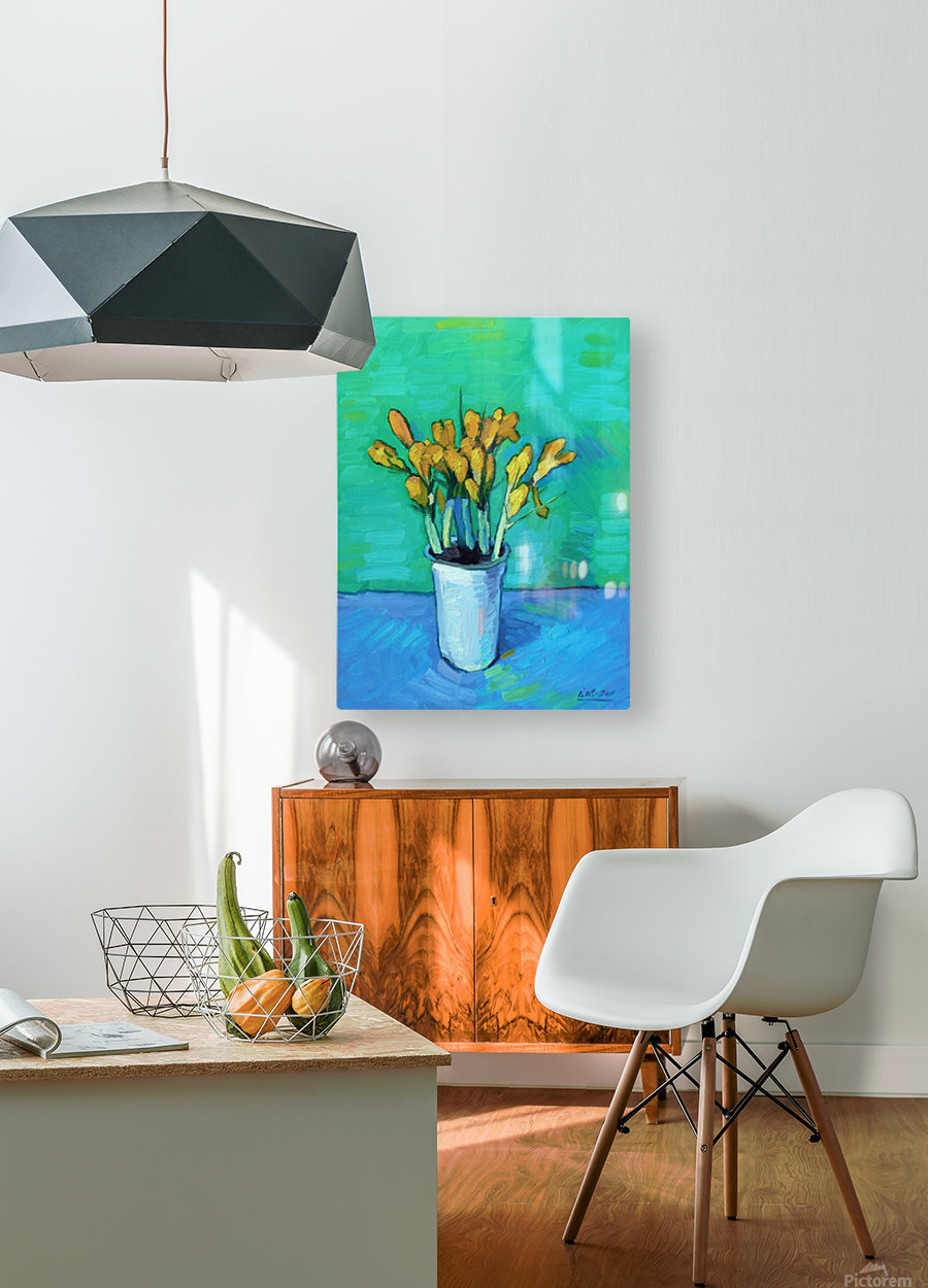 Crocuses  HD Metal print with Floating Frame on Back