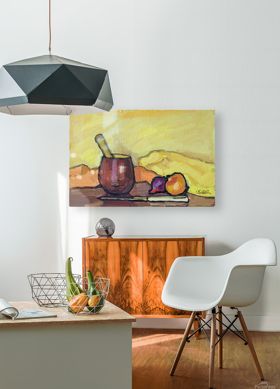 Still Life with Pounder  HD Metal print with Floating Frame on Back