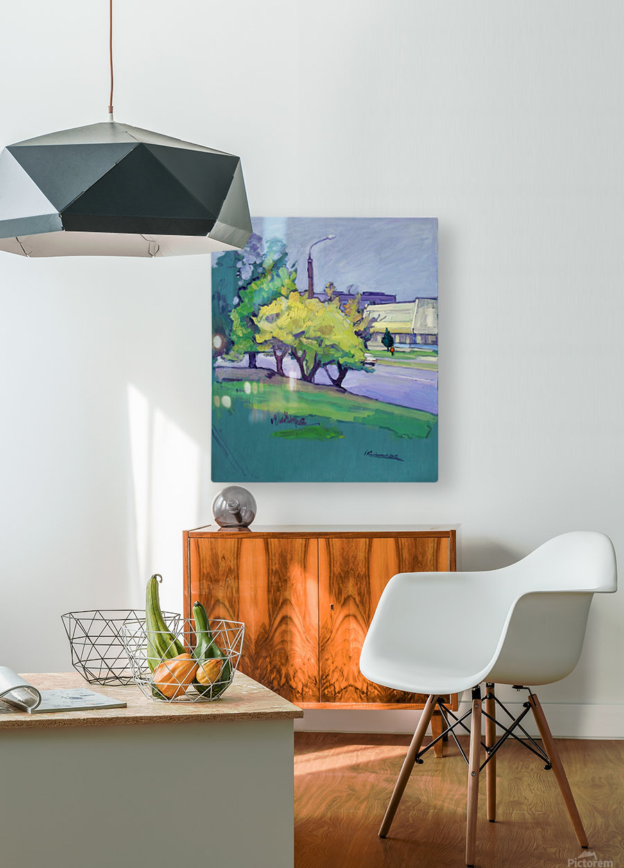 Autumn Day  HD Metal print with Floating Frame on Back