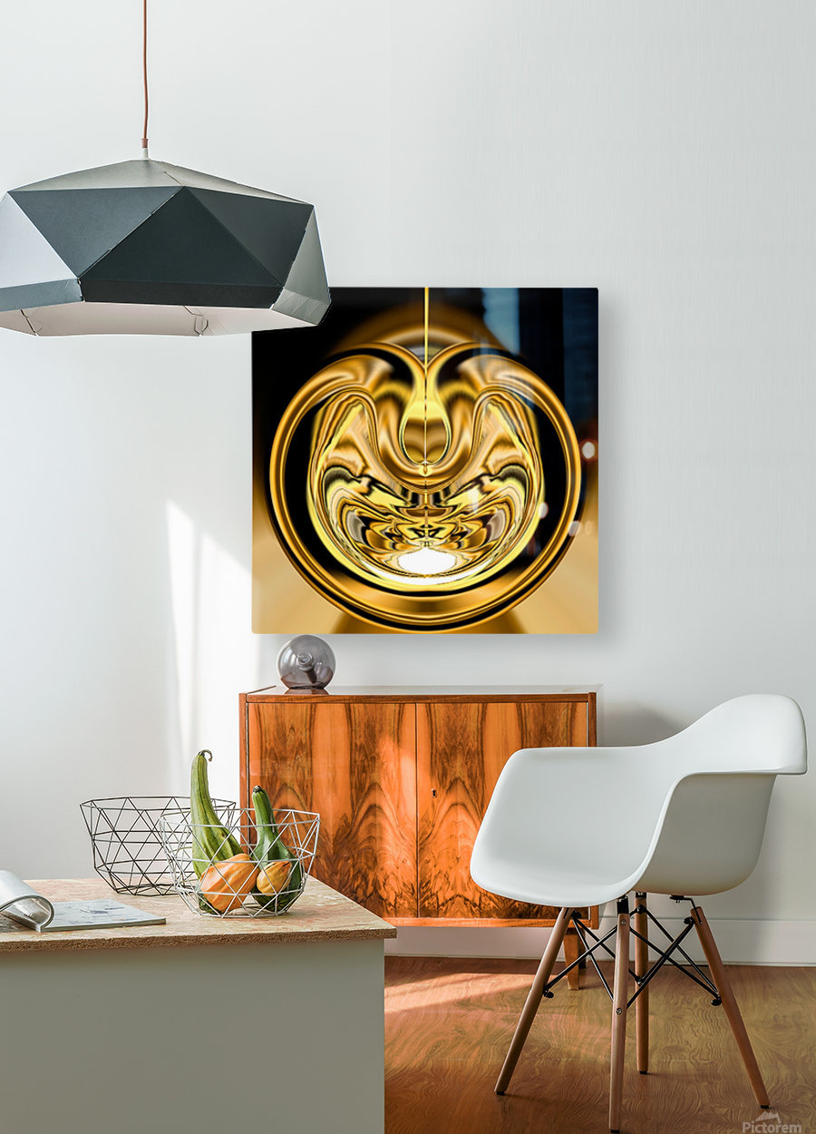 GoldTone2  HD Metal print with Floating Frame on Back
