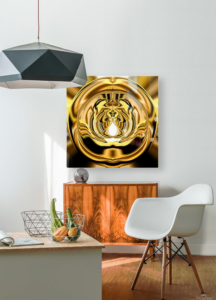 GoldTone3  HD Metal print with Floating Frame on Back