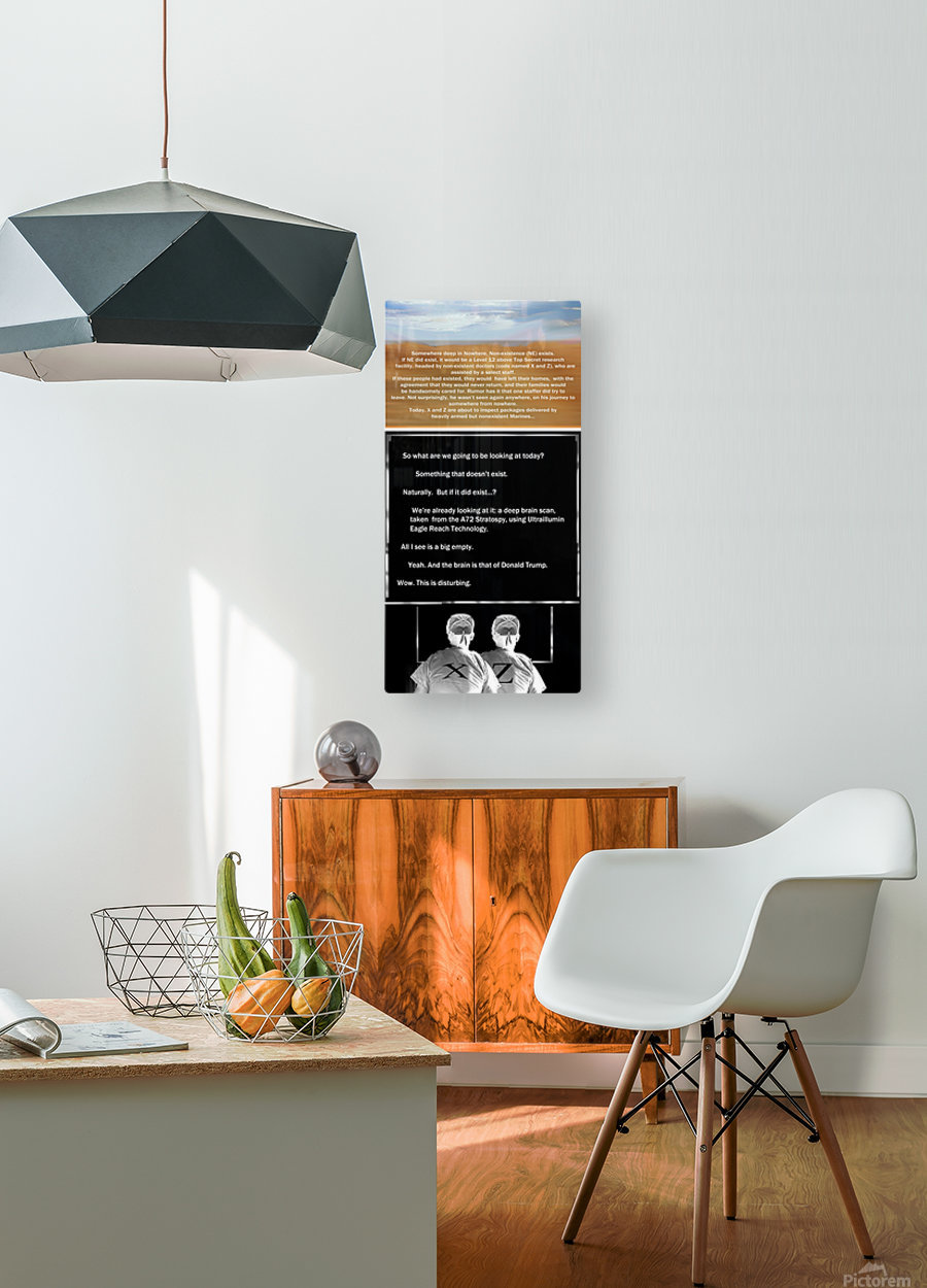 NonExistence  HD Metal print with Floating Frame on Back