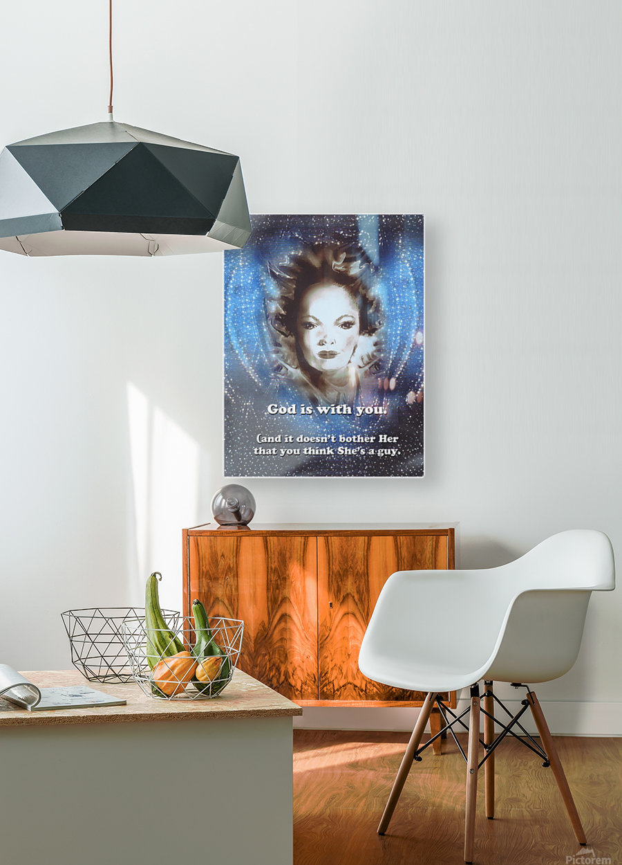 God Is With You2  HD Metal print with Floating Frame on Back