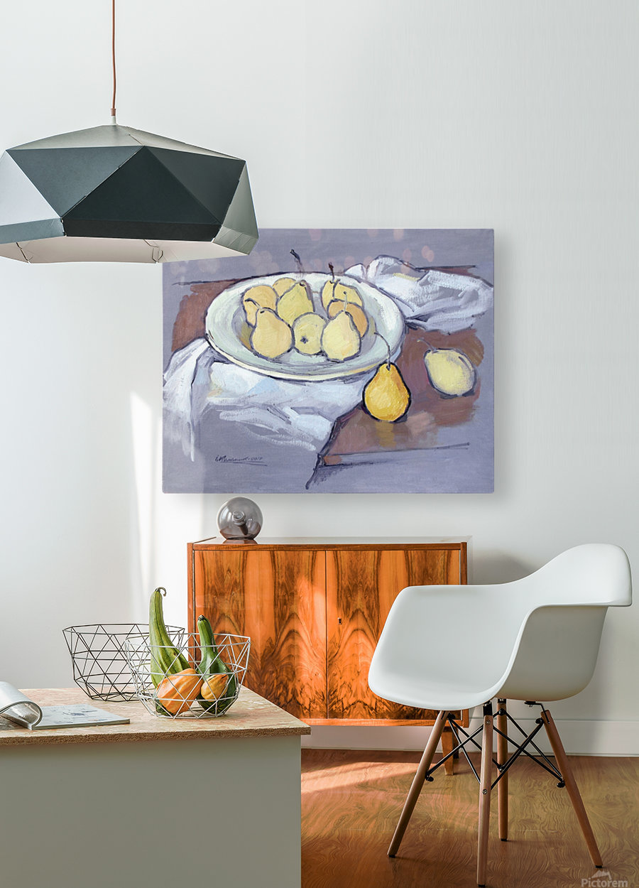 Pears-2  HD Metal print with Floating Frame on Back
