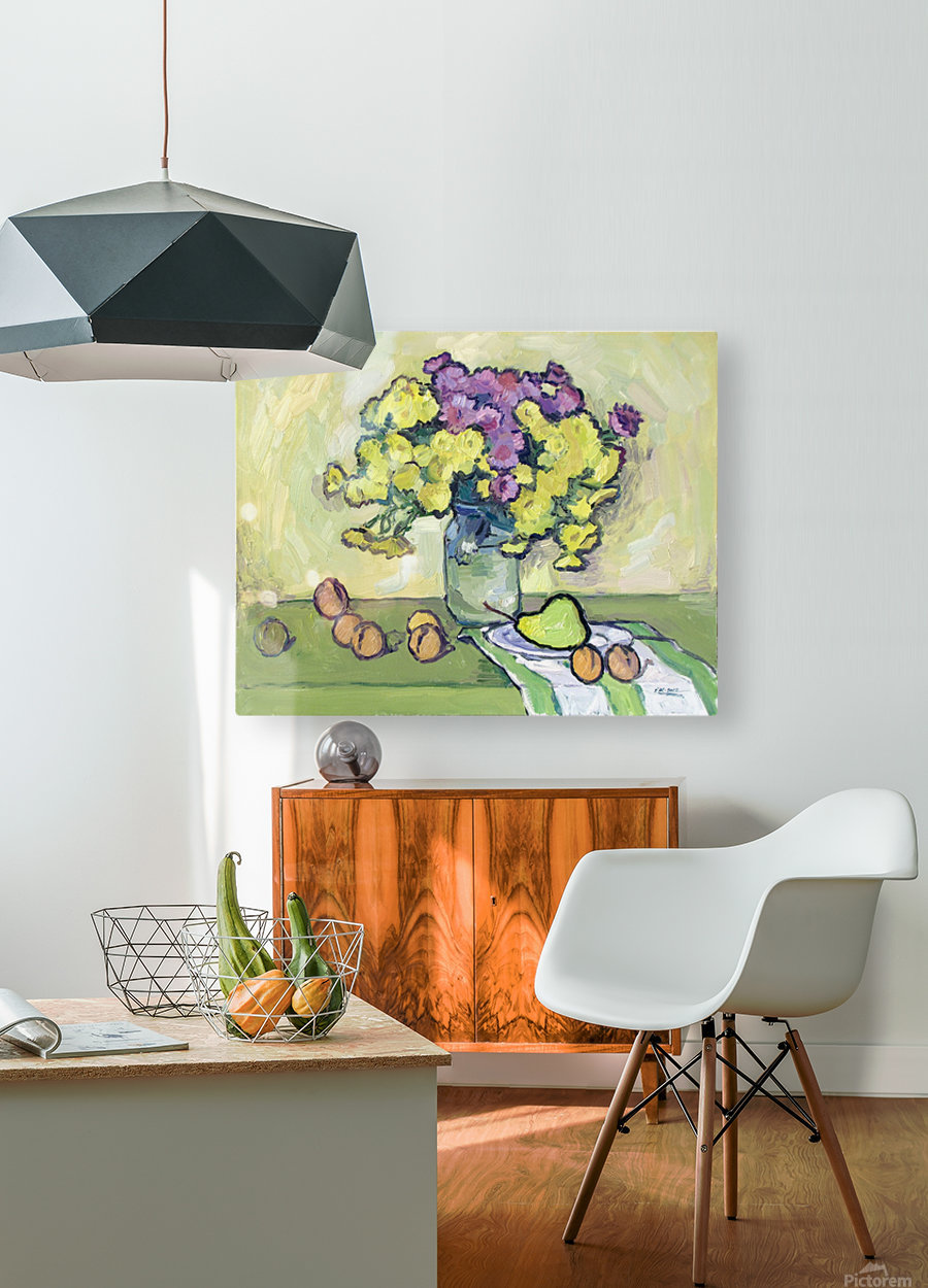 Chryzantemums  HD Metal print with Floating Frame on Back